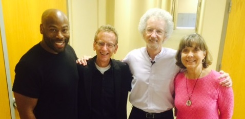From Left: Anthony Evans, Tom Dean, Philip and Janet Yancey